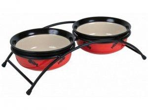 Trixie Miski ceramiczne 0,25L na stojaku [24790]