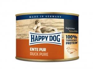 6x Happy Dog Ente Puszka 100% Kaczka 200g