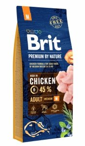 Brit Premium By Nature Adult M 15kg