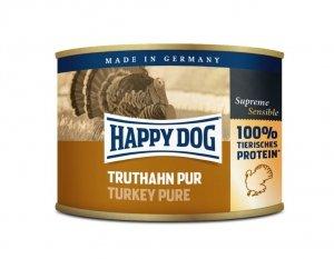 6x Happy Dog Truthahn Puszka 100% Indyk 200g