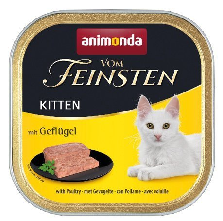 Animonda vom Feinsten Kitten z Drobiem tacka 100g