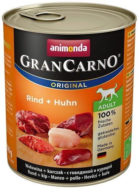 Animonda GranCarno Adult Rind Huhn Wołowina + Kurczak 800g
