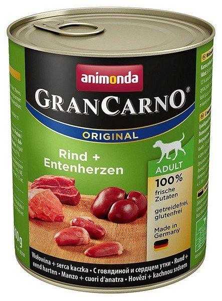 Animonda GranCarno Adult Rind Entenherzen Wołowina + Serca kacze 800g