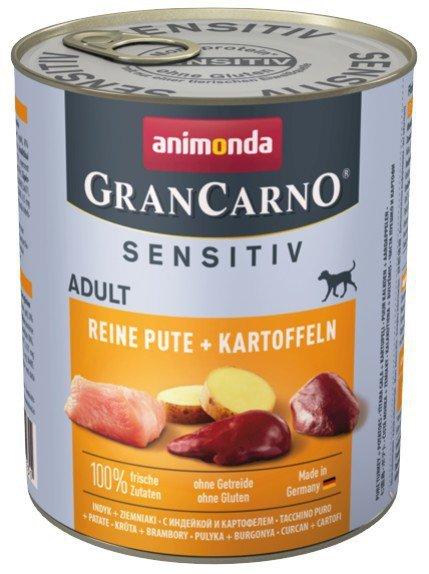 Animonda GranCarno Sensitiv Indyk Ziemniaki 800g