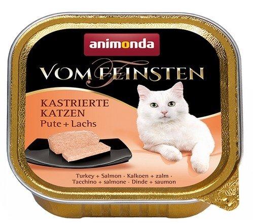 Animonda vom Feinsten Castrated Cats z Indykiem i Łososiem tacka 100g