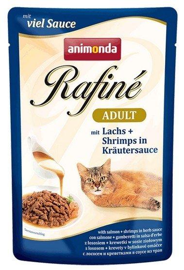 Animonda Rafiné Soupé Adult Łosoś + krewetki w sosie ziołowym saszetka 100g