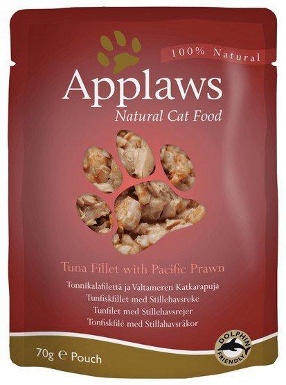 Applaws saszetka dla kota Tuńczyk i Krewetki Pacyficzne 70g