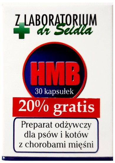 Dr Seidel HMB preparat odżywczy dla psów i kotów 30 kaps. + 20% gratis
