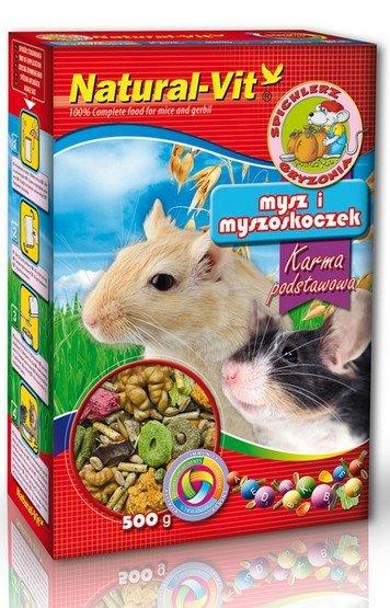Natural-Vit Spichlerz Gryzonia - Mysz i myszoskoczek 500g