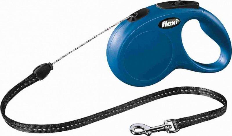 Flexi New Classic Smycz linka S 5m niebieska