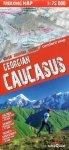 Gruzja Kaukaz mapa trekingowa 1:75 000