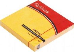 Karteczki samoprzylepne 75x75 mm pomarańcz Optima