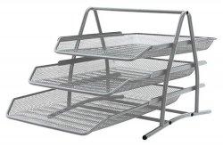 Zestaw na biurko Q-CONNECT Office Set, metalowy, 3 szufladki, srebrny