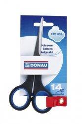 Nożyczki biurowe Donau Soft 14cm niebieskie