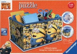 Puzzle 3D Kuferek na skarby Minionki 216 elementów