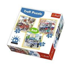 Puzzle Pojazdy interwencyjne 3w1