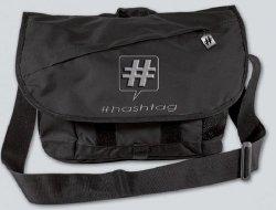 Torba na ramię na laptopa męska Hashtag