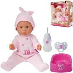Lalka Bobas Little Joy interaktywna 46 cm różowa