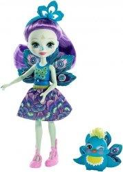 Barbie Enchantimals Lalka+zwierzątko Patter Peacock & Flap