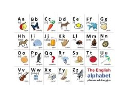 Plansze edukacyjne - alfabet języka angielskiego