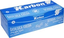 Kreda biała okrągła KARBON 100 sztuk