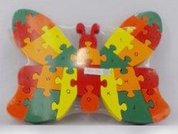 Puzzle drewniane motyl