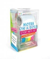 Samoprzylepne notatki na rolce - zestaw neonowy