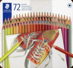 Kredki ołówkowe sześciokątne 72 kolory w metalowym pudełku