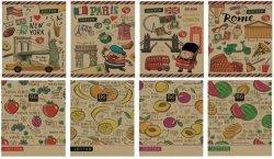 Zeszyt B6 w kratkę 32 kartki 16 sztuk mix