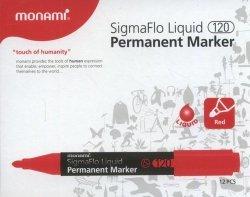 Marker permanentny Monami SigmaFlo 120 czerwony 12 sztuk