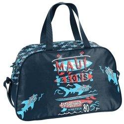 Torba sportowa Maui and Sons granatowo-czerwona