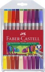 Flamastry dwustronne etui 20 kolorów