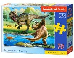 Puzzle 70 Tyrannosaurus vs Triceratops
