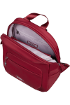 Plecak posiada jedną komore. Wewnątrz komory znajduje się mała kieszeń na tyle zapinana na suwak, smyczka na klucze, dwie przegrody np. na telefon