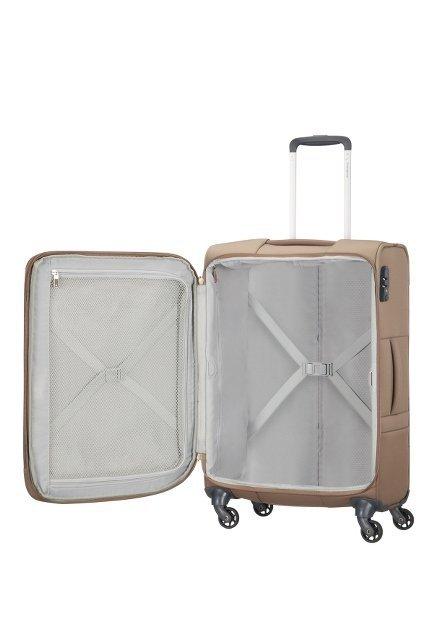 Bagaż posiada wewnątrz pasy spinające