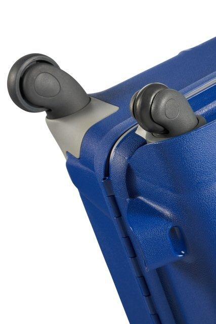 Bagaż posiada cztery zwrotne i mocne koła