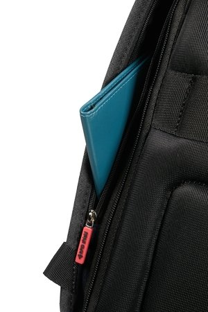 "Plecak damski antykradzieżowy na laptopa SECURIPAK S LPT BACKPACK 14.1"" BLACK STEEL"