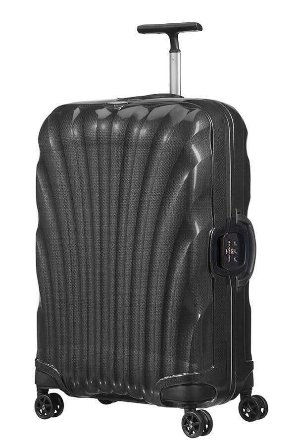 Bagaż 75cm o pojemności 93l wykonany z materiału CURV, który charakteryzuje się dużą wytrzymałością i lekkością.Bagaż posiada górny i boczny uchwyt
