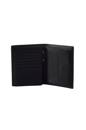 Portfel posiada ochronę RFID, która uniemożliwia zczytanie danych z karty kredytowej. Portfel posiada 11 miejsc na karty, 3 większe kiesznie oraz kieszeń po srodku portfela zamykaną na suwak