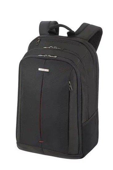"""Plecak na laptopa 17,3"""" wykonany z poliestru. Plecak z boku posiada siatki na butelkę"""