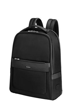 """Plecak na laptopa 14,1""""wykonany z mocnego nylonu i piliuretanu w typie skóry safiano."""