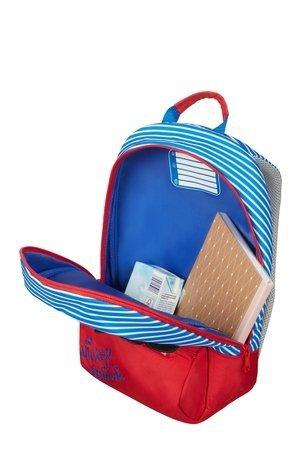 Plecak posiada jedną większą komorę oraz mała kieszeń na przodzie