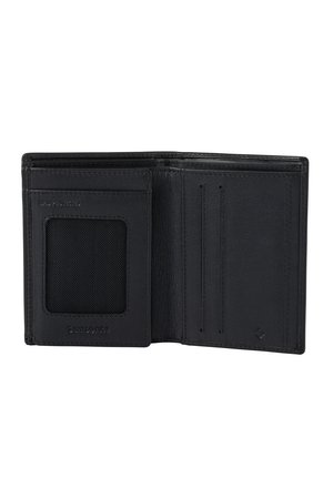 Portfel posiada dwie komory na banknoty
