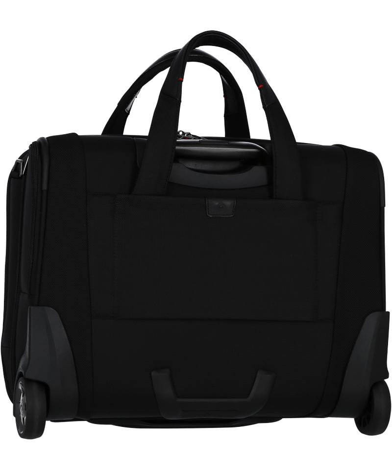 Torba posiada tunel, który umożliwia nałożenie torby na stelaż innego bagażu