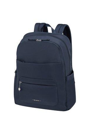 """Plecak lekki na laptopa 15,6"""" wykonany z nylonu. Od fraontu plecak posiada dwie kieszenie zamyka na na suwak"""