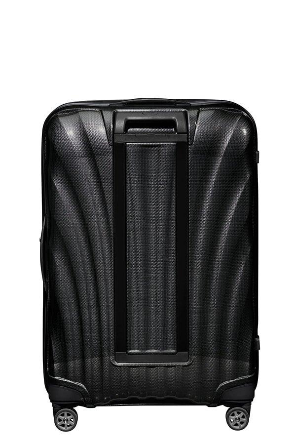 Bagaż posiada podwójny stelaż, oraz cztery podwójne koła do łatwiejszego prowadzenia walizki