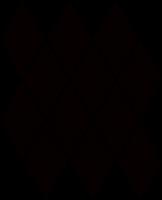 Mozaika Nero Romb Pillow 20,6x23,7