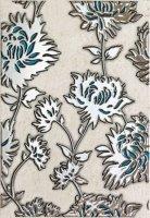 Gris Flower Turkus Dekor 25x36
