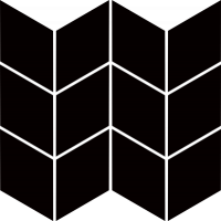 Mozaika Nero Romb Braid 20,5x23,8