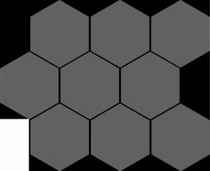 Cambia Grafit Lappato Mozaika Heksagon 27,53x33,4